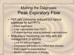 making the diagnosis peak expiratory flow