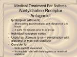 medical treatment for asthma acetylcholine receptor antagonist