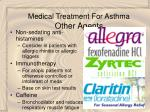 medical treatment for asthma other agents