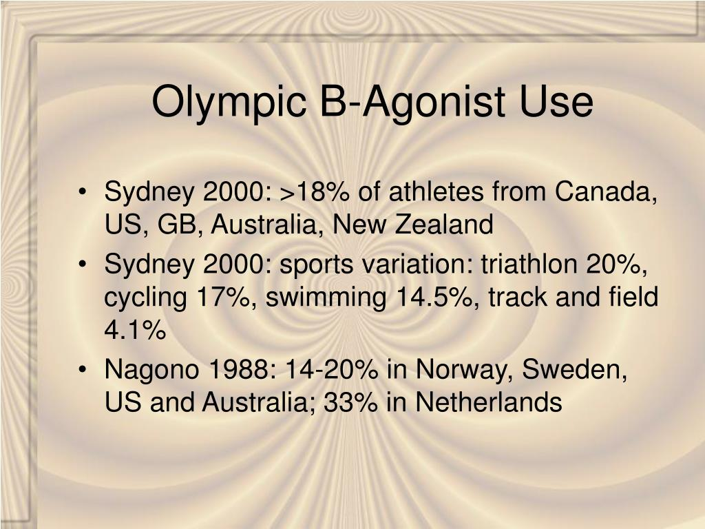 Olympic B-Agonist Use