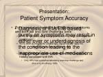 presentation patient symptom accuracy