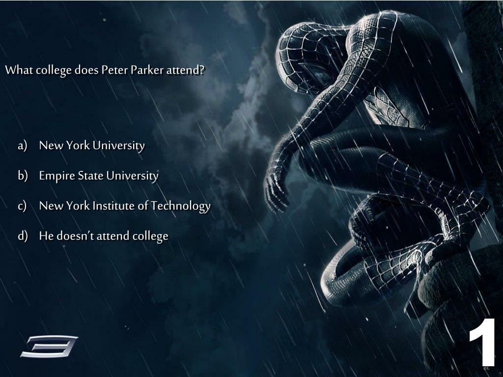 What college does Peter Parker attend?
