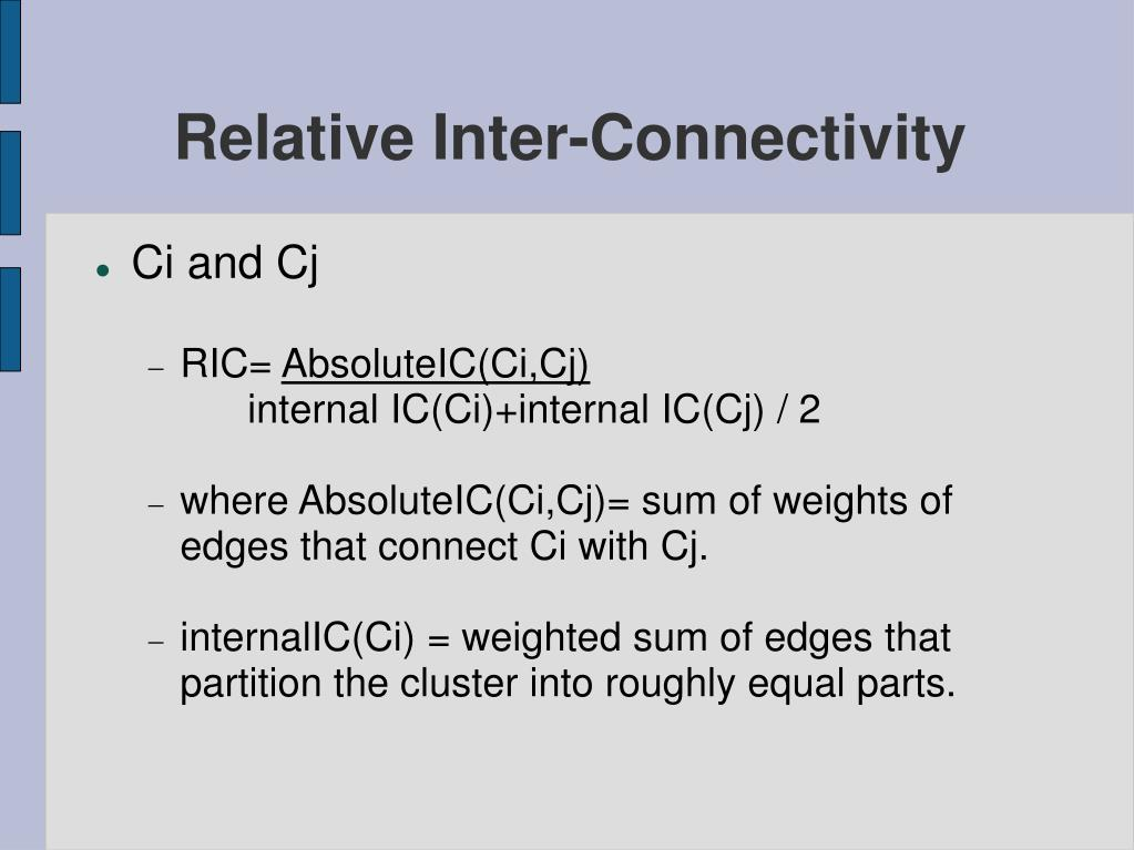 Relative Inter-Connectivity