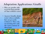 adaptation applications giraffe