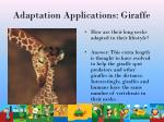 adaptation applications giraffe44