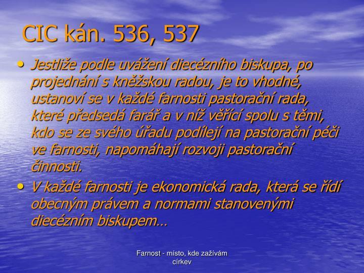 CIC kán. 536, 537