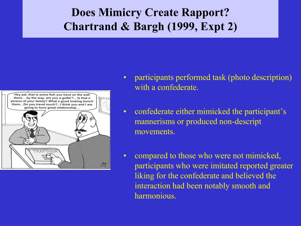 Does Mimicry Create Rapport?