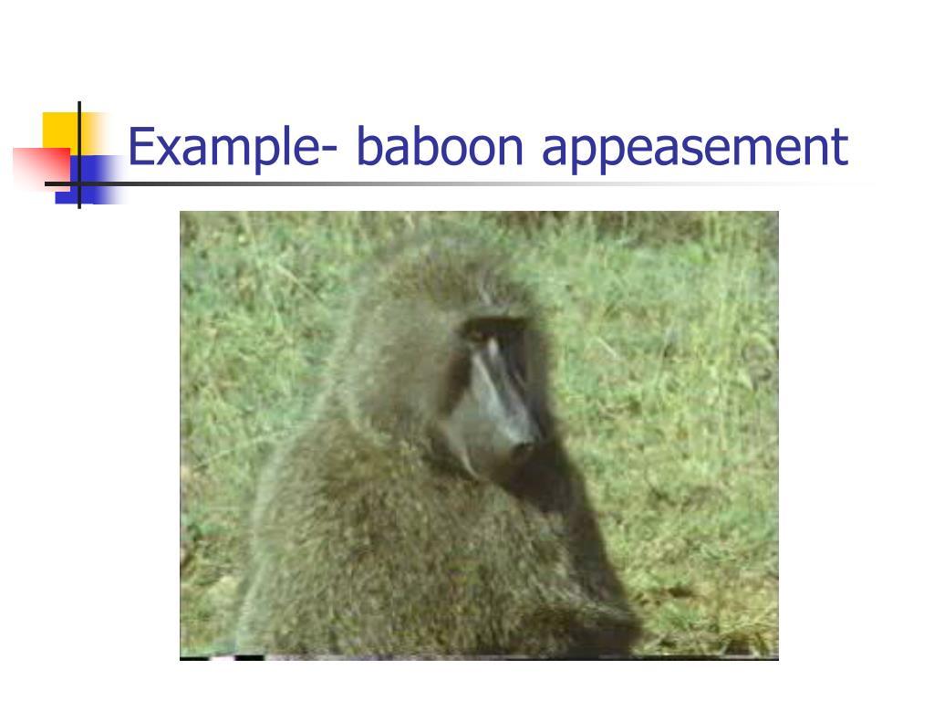 Example- baboon appeasement