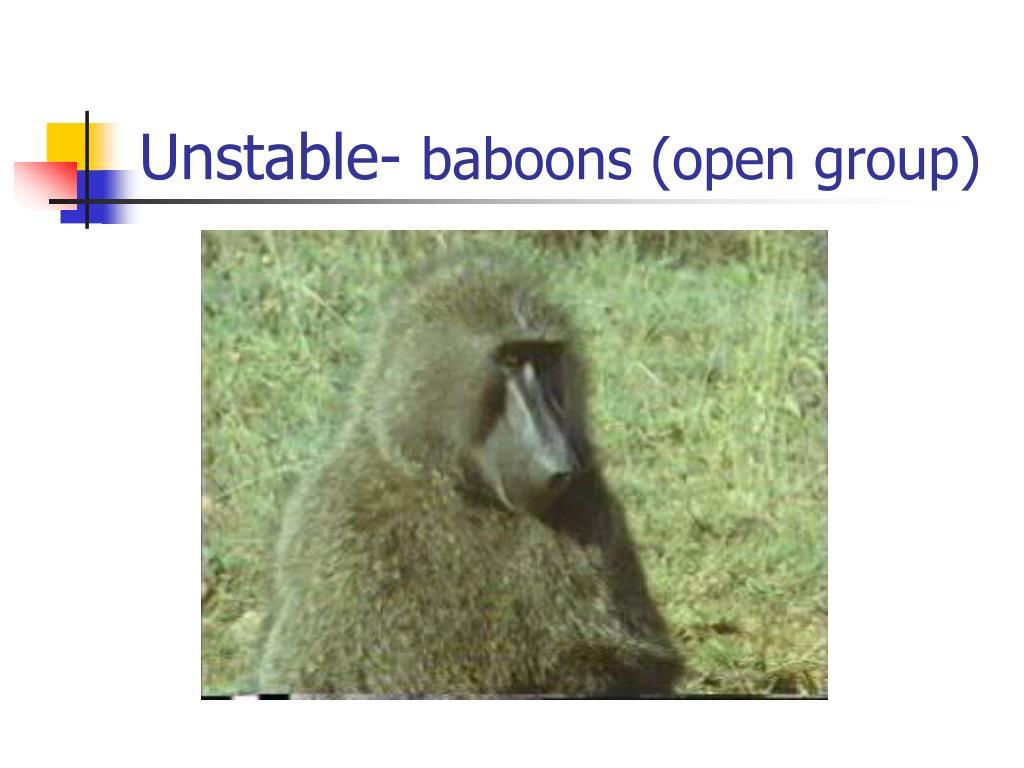Unstable-
