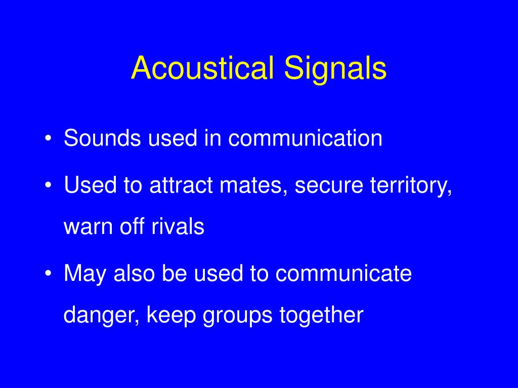 Acoustical Signals