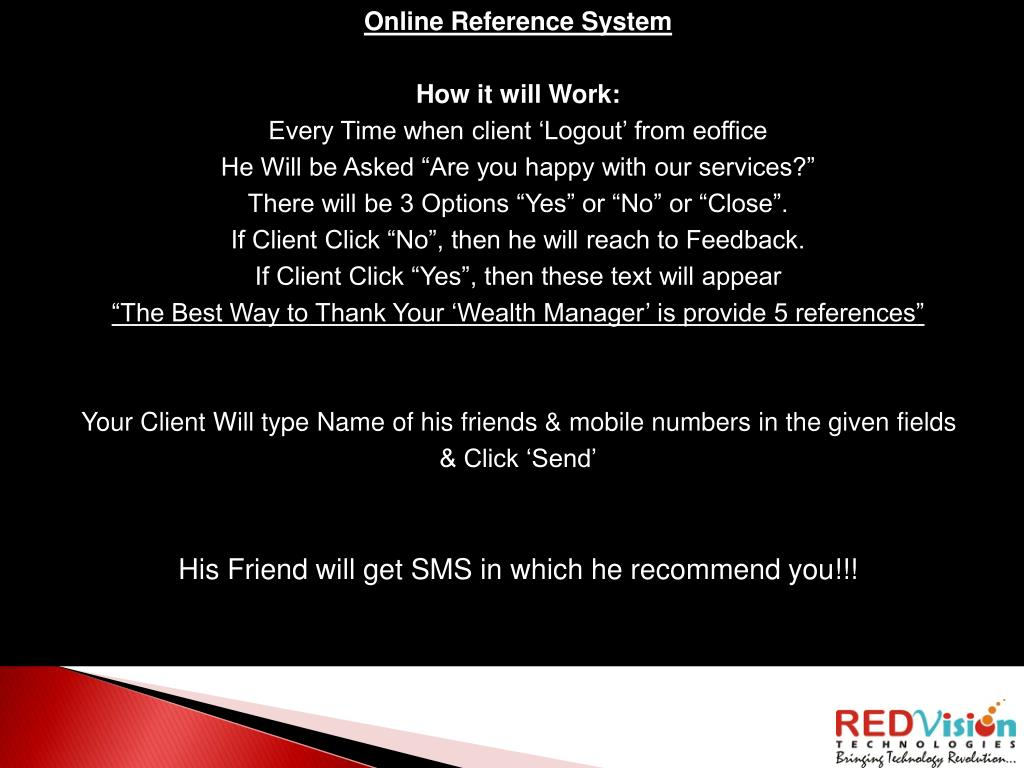 Online Reference System