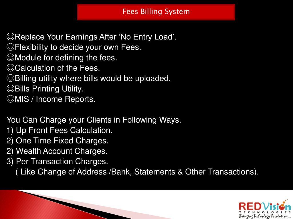 Fees Billing System