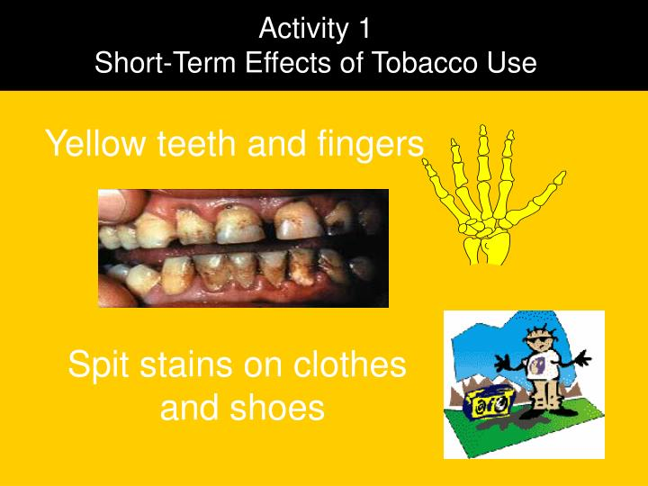 effects of tobacco use on the