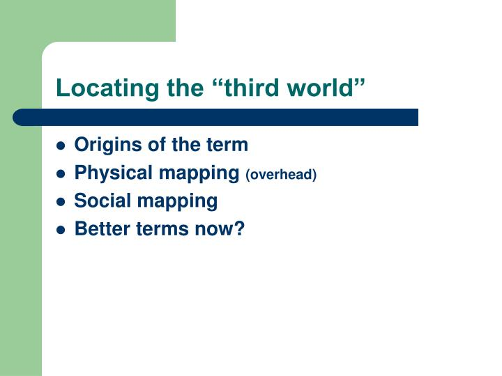 "Locating the ""third world"""
