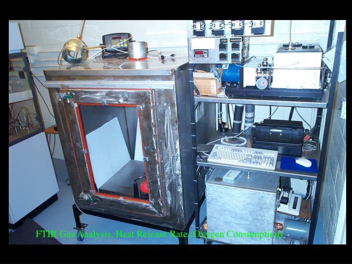 FTIR Gas Analysis, Heat Release Rate (Oxygen Consumption)