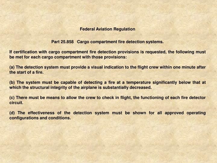 Federal Aviation Regulation