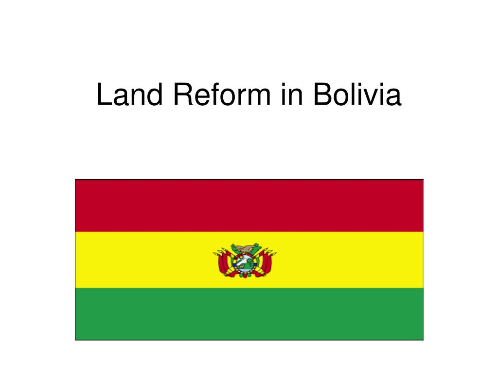 land reform in bolivia l.