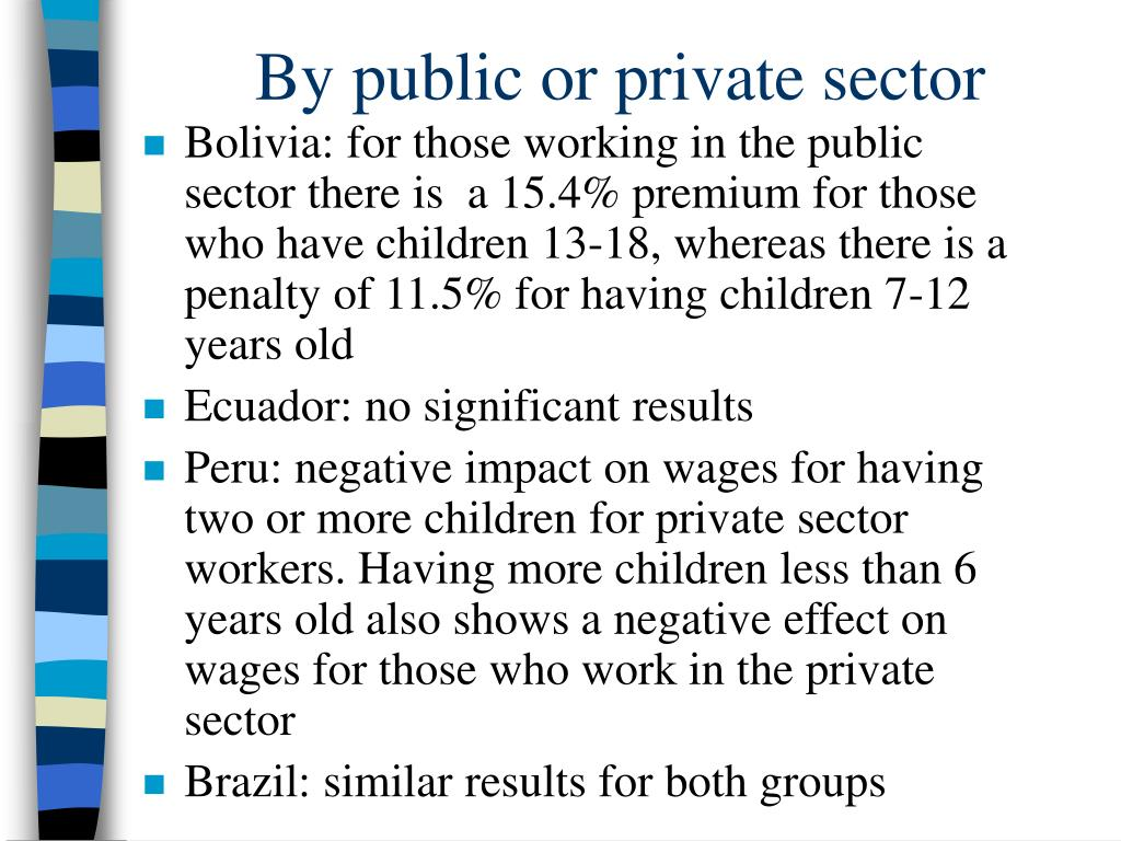 By public or private sector