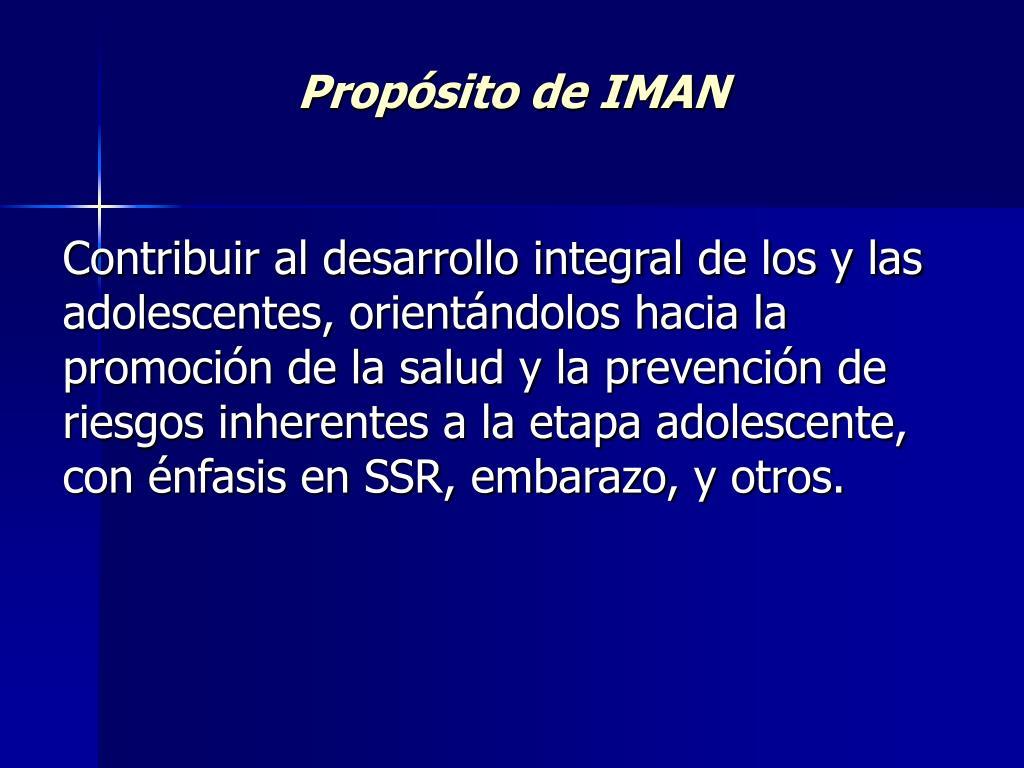 Propósito de IMAN