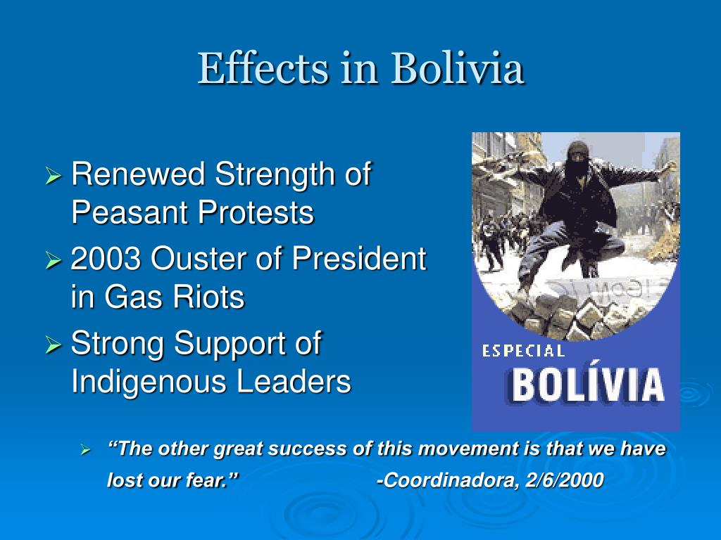 Effects in Bolivia