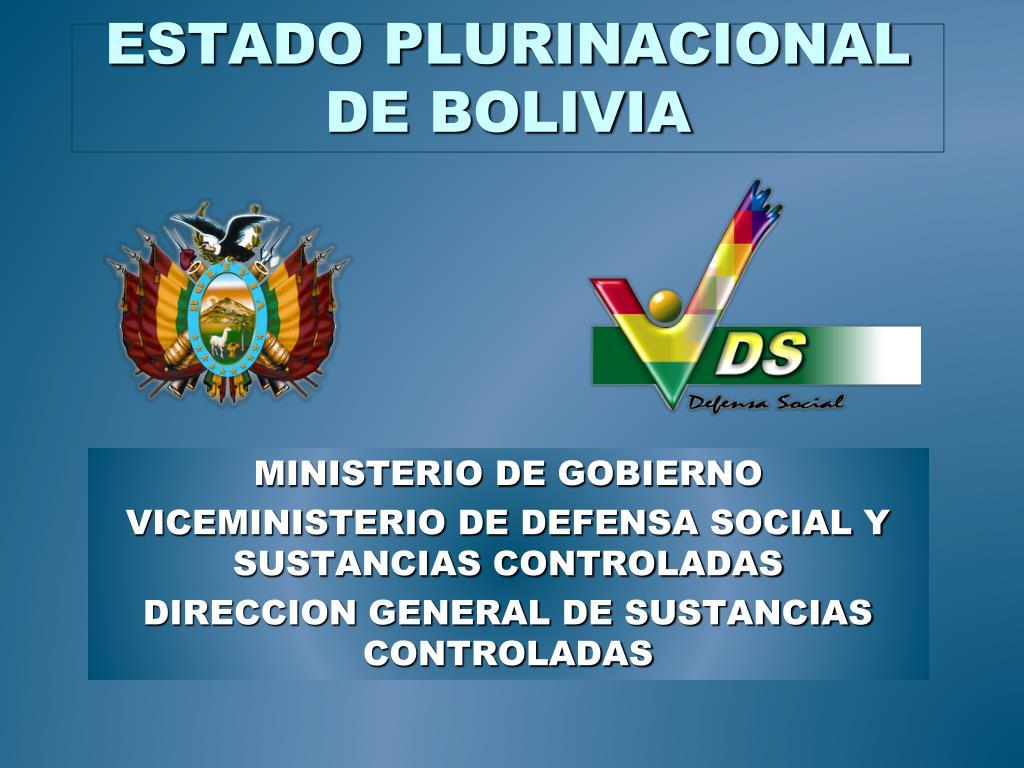 estado plurinacional de bolivia l.