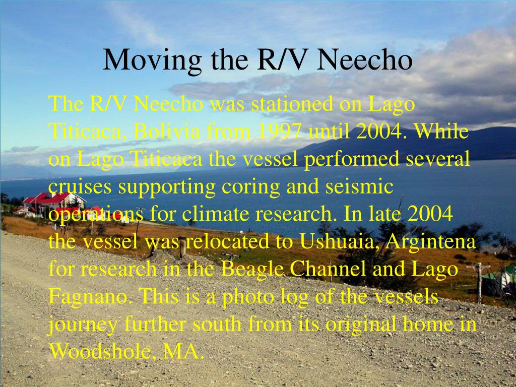 moving the r v neecho l.