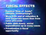 fiscal effects