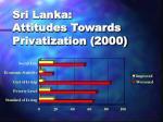 sri lanka attitudes towards privatization 2000