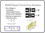 mems based comb drive actuators