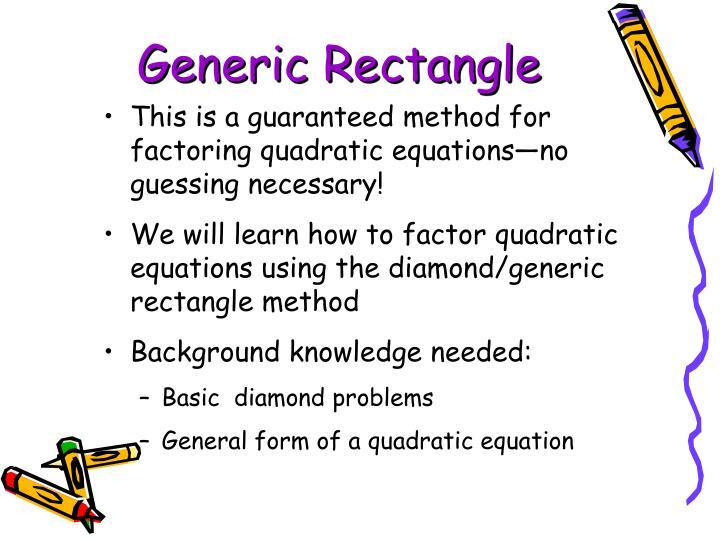Generic Rectangle
