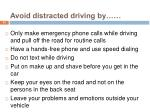 avoid distracted driving by