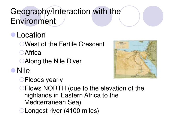 Geography interaction with the environment