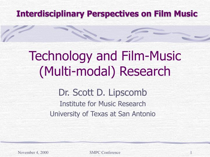 technology and film music multi modal research n.
