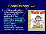 conclusions cont24