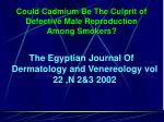 could cadmium be the culprit of defective male reproduction among smokers