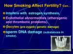how smoking affect fertility con