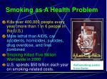 smoking as a health problem