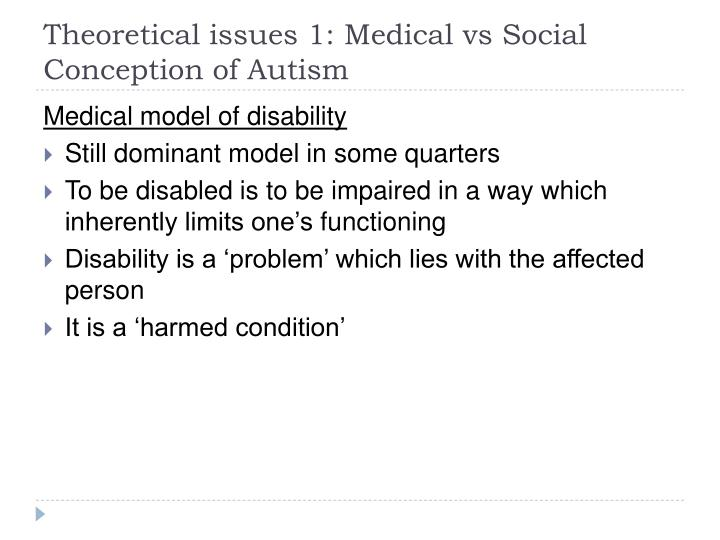"""medical and social models of disability essay Medical model of disability  to prepare for this essay,  of the """"medical model of disability"""" and """"social construction of  conceptions of these models."""