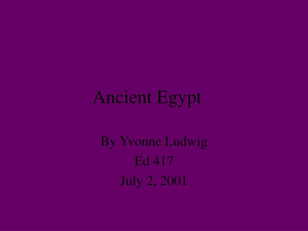 ancient egypt l.