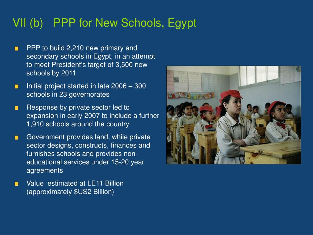 VII (b)	   PPP for New Schools, Egypt