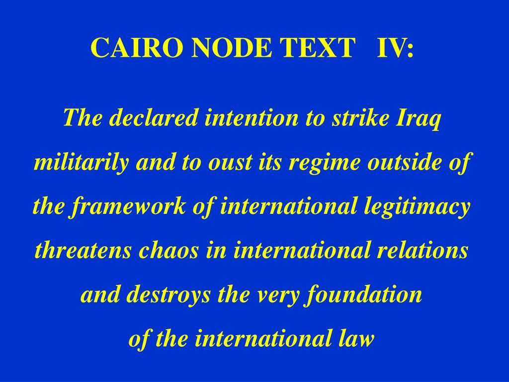 CAIRO NODE TEXT   IV: