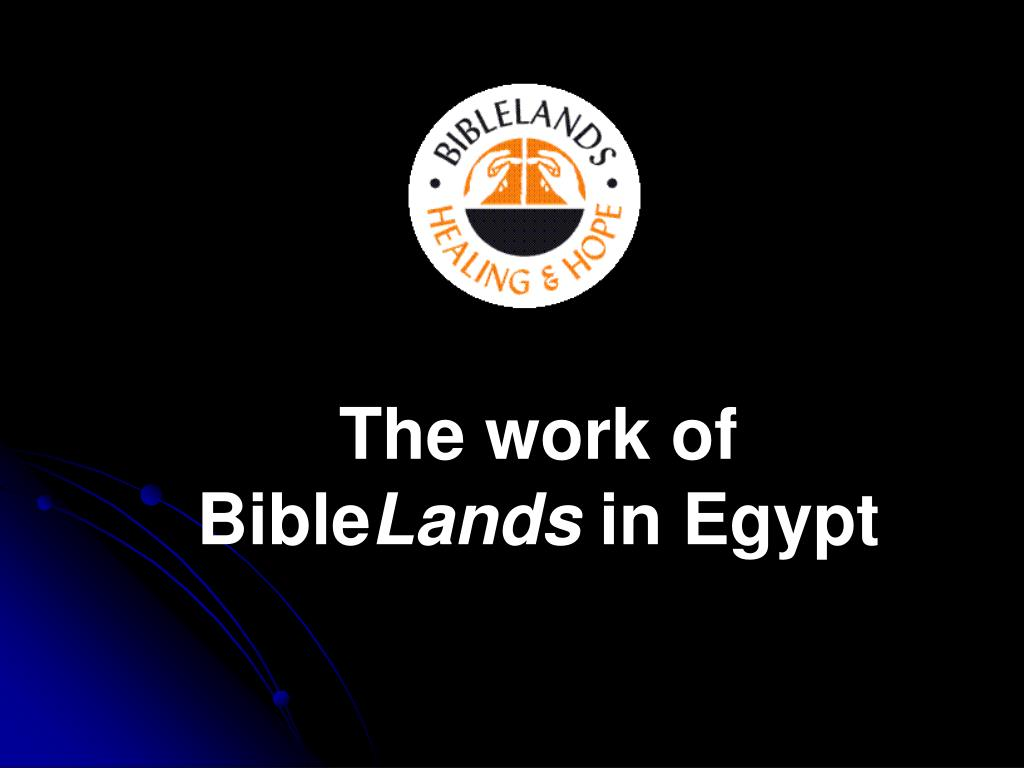the work of bible lands in egypt l.
