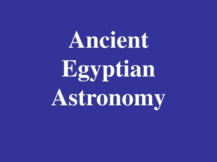 ancient egyptian astronomy n.