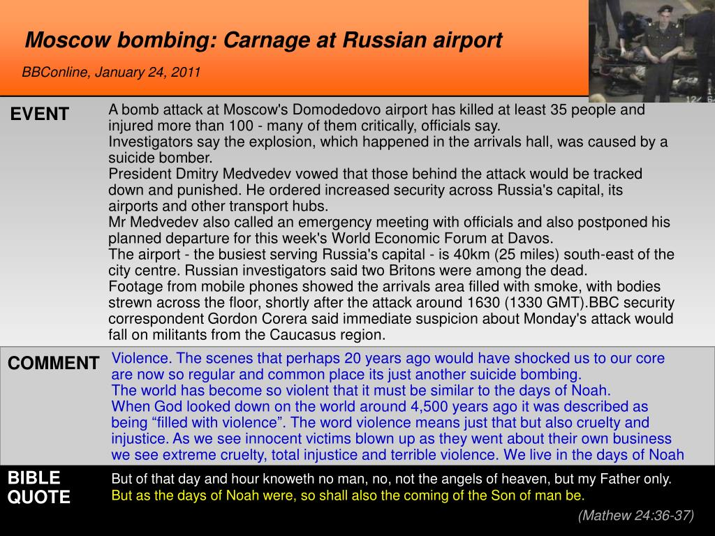 Moscow bombing: Carnage at Russian airport