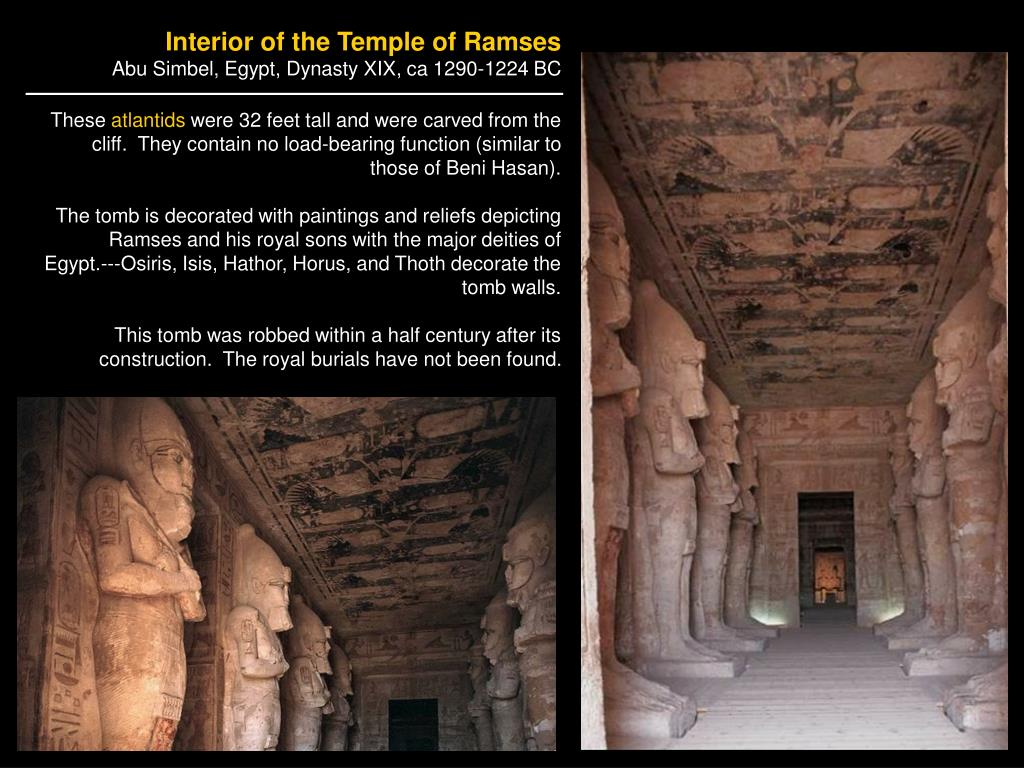 Interior of the Temple of Ramses