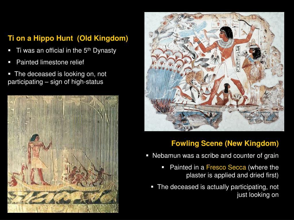Ti on a Hippo Hunt  (Old Kingdom)
