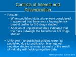 conflicts of interest and dissemination1