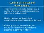 conflicts of interest and patient safety