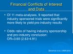 financial conflicts of interest and data1