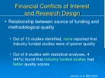 financial conflicts of interest and research design1